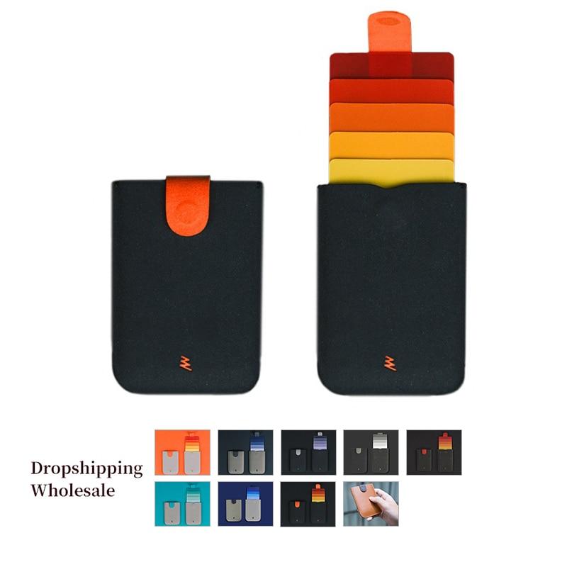 New DAX V2 Mini Card Holder Slim Portable Paper Holder Business Cards Case 5 Cards Short Money Women Purse Men Wallet
