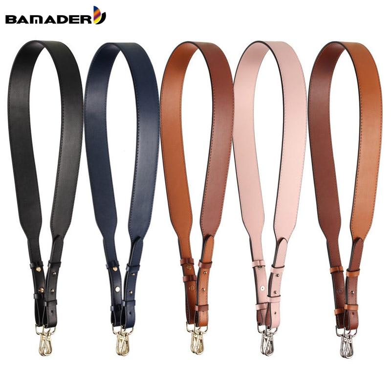 Genuine Leather Wide Shoulder Strap Solid Color Adjustable Length100cm-120cm Rivet Fashion Brand Luxury Women Bag Accessories
