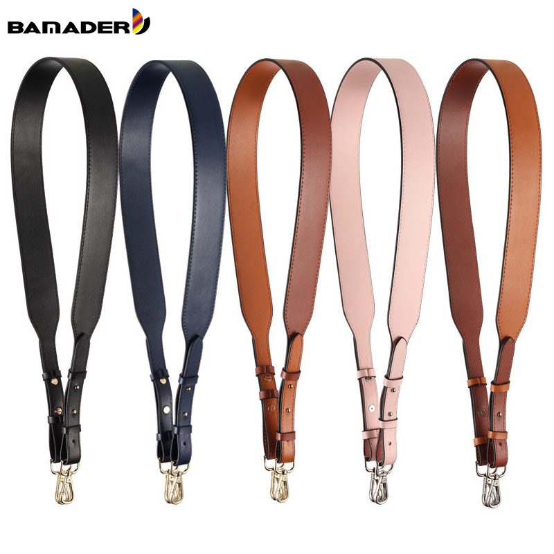 Genuine Leather Wide Shoulder Strap Brand Luxury Bag Strap Solid Color Adjustable Length 100cm-120cm  Women Bag Accessories