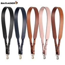 Genuine Leather Wide Shoulder Strap Brand Luxury Bag Strap Solid Color Adjustable Length 100cm-120cm  Women Bag Accessories