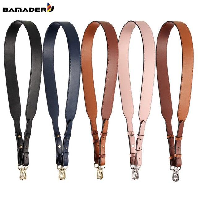 Genuine Leather Wide Shoulder Strap Brand Luxury Bag Strap Solid Color Adjustable Length 100cm 120cm  Women Bag Accessories