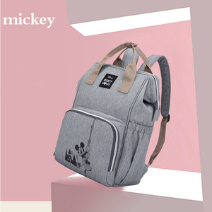 Image 2 - Sacs pour bébé Disney couches pour maman, sac à dos de maternité mode maman organisateur de couches Mickey Minnie pour poussette, chariot, landau