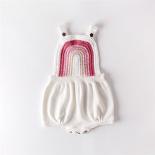 Knitted Baby Clothes Rainbow Baby Girl Romper