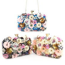 bags for women 2019 Fashion dinner bag lady handmade flower beaded banquet wedding party luxury designer