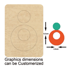Round earrings cutting dies 2020 new die cut &wooden Suitable for common machines on the market