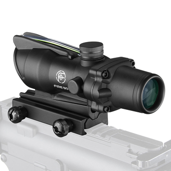 Fire Wolf Acog 4X32 Tactical RifleScope Real Fiber Green Red Dot Illuminated Etched Reticle Optical sight Crossbow for hunting 3