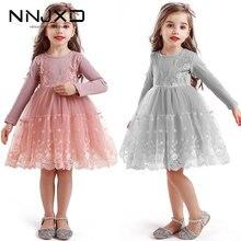 Abiti da ragazza per bambini a maniche lunghe autunno inverno abiti da scuola Casual per ragazze Fancy Dress Kids Girl Party Wear Clothing 3 8T