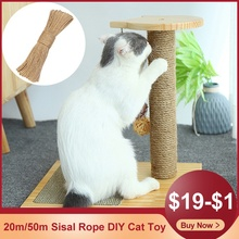 20m/50m Sisal Rope DIY Scratching Post Cat Tree Toy Cat Climbing Frame Replacement Desk