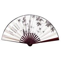 Ventilador de bambu ventilador dobrável masculino antigo estilo chinês clássico ventilador dobrável retro ventilador diário Capas para ventilador elétrico     -