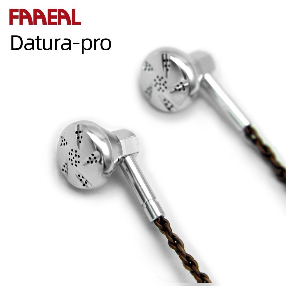In Stock 2019 Flagship Earbud FAAEAL Datura Pro Earbud HIFI Metal Earphone 14.8mm Dynamic Driver Headset