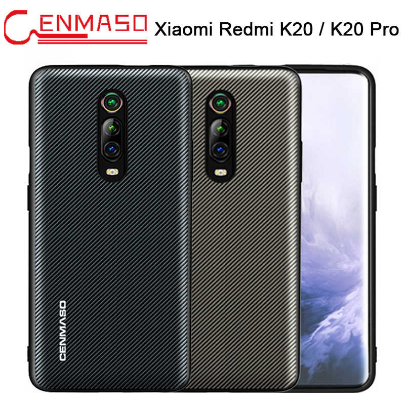 For Xiaomi Redmi K20 Case for Redmi K20 Pro Case Carbon Texture Leather Back Cover For Xiaomi Mi 9T Mi9T Full Shockproof Case