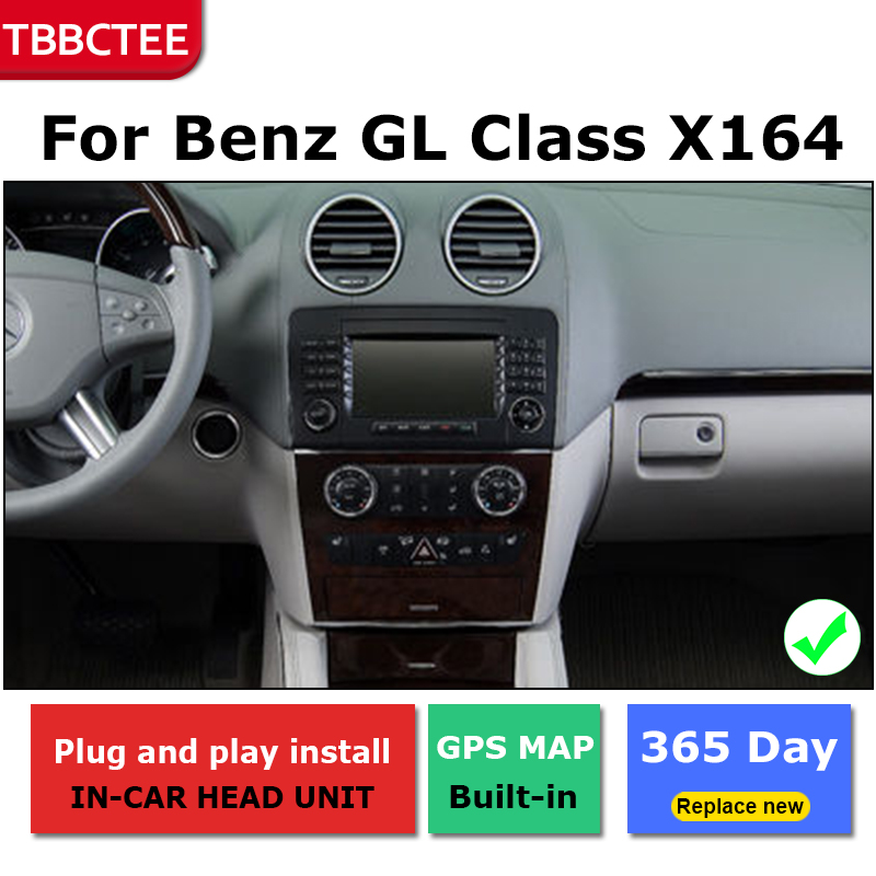 Android Car GPS Navigation For Mercedes Benz GL Class X164 2007 2012 Car dvd player BT RDS Mlutimedia player Navi 2Din WiFi in Car Multimedia Player from Automobiles Motorcycles