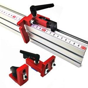 Image 1 - 600mm/800mm Aluminium Profil Zaun 75mm Höhe mit T tracks und Schiebe Klammern Gehrung Gauge zaun Stecker für Holzbearbeitung