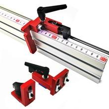 Valla de perfil de aluminio de 600mm/800mm, 75mm de altura con pistas en T y soportes deslizantes, manómetro, Conector de valla para carpintería