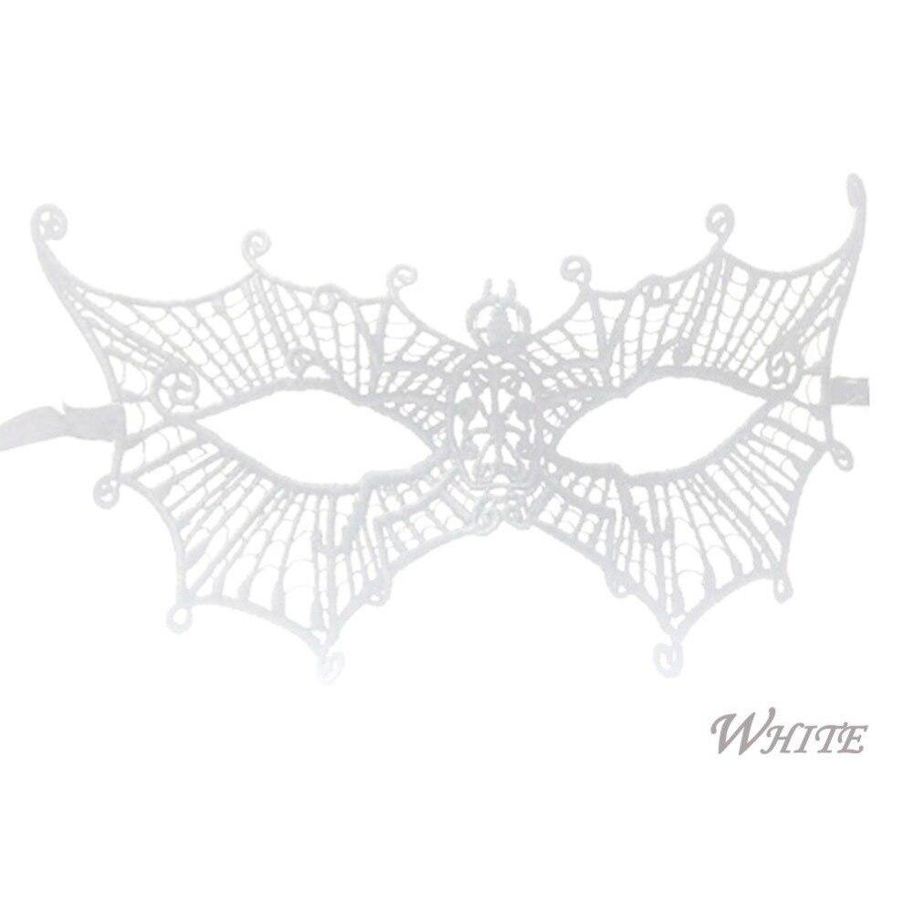 Womens Black Widow Web Eye Mask Fancy Dress Masquerade Spider Cobweb Venetian