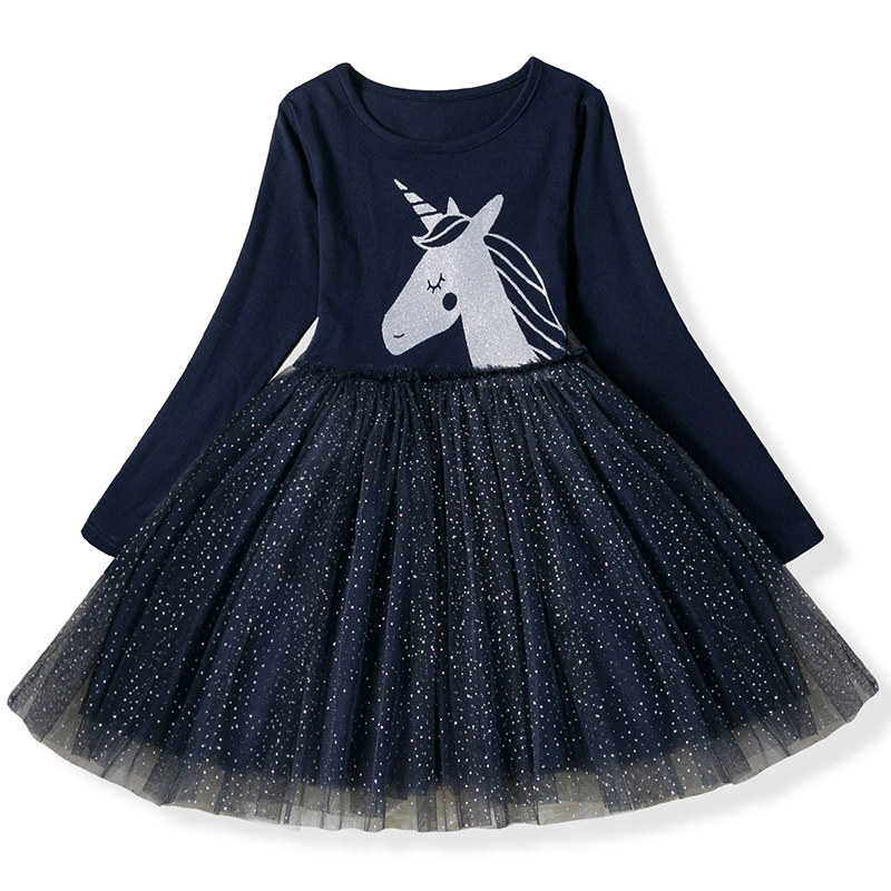 H9302c2fd1f0545ec93de92a3373b3a5aU Kids Dresses For Girls Long Sleeve Deer Snowflake Print Dress New Year Costume Princess Dress Kids Christmas Clothes Vestidos