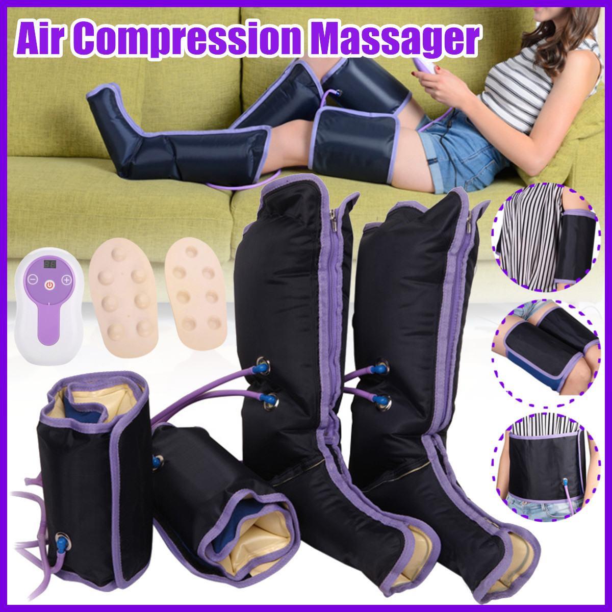 Elektrische Luft Kompression Bein Massager Bein Wraps Fuß Knöchel Kalb Massage Maschine Fördern Die Durchblutung Schmerzen Lindern Müdigkeit