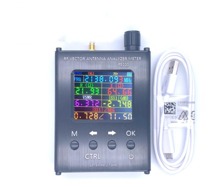 Free Shipping PS100/PS200 N1201SA+ 35MHz - 2.7GHz UV RF Antenna Analyzer SWR Meter Tester With Aluminum Alloy Shell