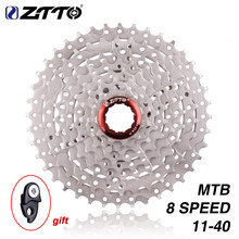 ZTTO MTB 8s 8speed 40T Wide Ratio Freewheel Mountain Bike Bicycle Parts Cassette 11-40T Compatible for M410 k7 X4(China)