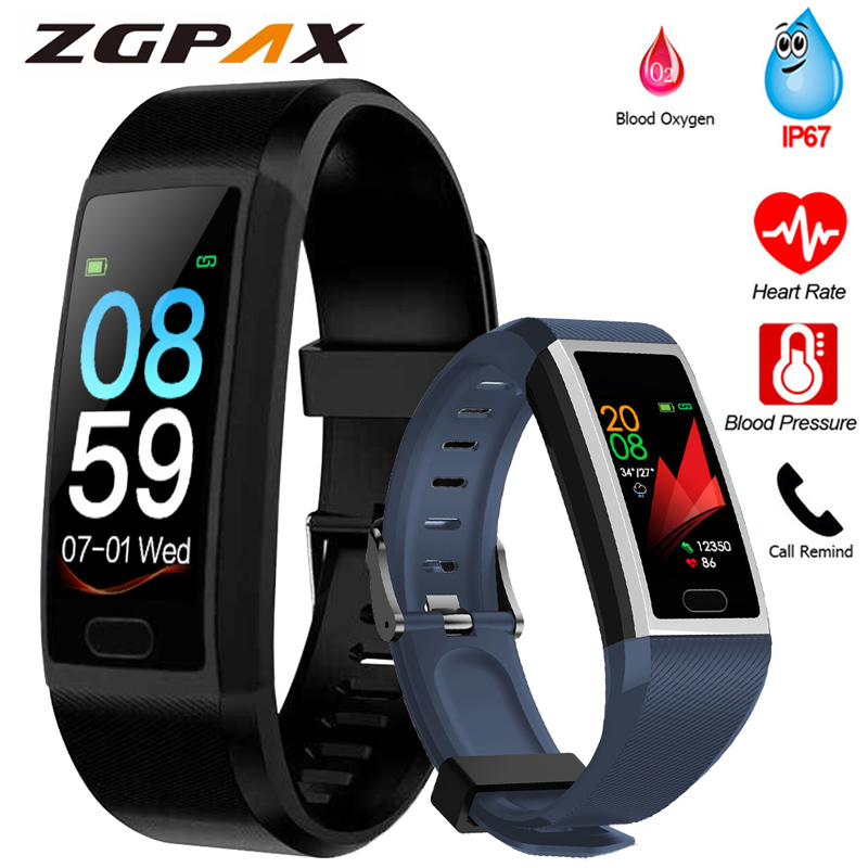 Fitness Bracelet Blood Pressure Measurement Waterproof Smart Band Bracelet Watch Fitness Tracker Heart Rate Activity Tracker