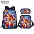 Рюкзак для мальчиков-подростков с принтом «Блейз и Монстр»  3 шт./компл.