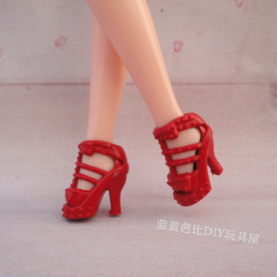 1/6 Doll Shoes Mix style High Heels Sandals Boots Colorful Assorted Shoes Accessories For Barbie Doll Baby Xmas DIY Toy 9