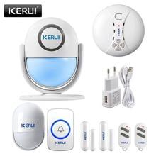 Kerui WP7 wifiホームセキュリティ警報システムのサポートモーション検出appリモコン 110dBサウンドbuglar警報モーションセンサー