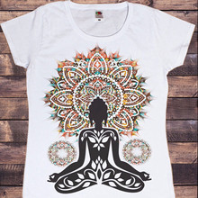 T-shirt de yoga aztèque pour femmes, Haut d'entraînement, bouddha, méditation, Zen Hobo, Boho, tenue de Paix, nouvelle collection 2021