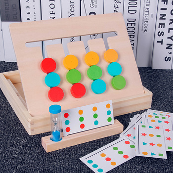 Children's wooden early education cognitive math toys color matching score board puzzle Montessori wooden baby children's toys flyingtown montessori teaching aids balance scale baby balance game early education wooden puzzle children toys
