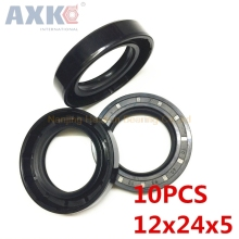 AXK 10pcs   TC12X24X5  Skeleton Oil Seal 12*24*5 Seals  high-quality Seals Radial shaft seals for kobelco sk200 6 center joint seal repair service kit excavator oil seals 3 month warranty