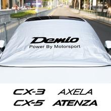 Summer Auto Windshield Sunshade Winter Snow Cover Waterproof Protector For Mazda 3 6 CX3 CX5 MS MPS Demio Axela Car Accessories