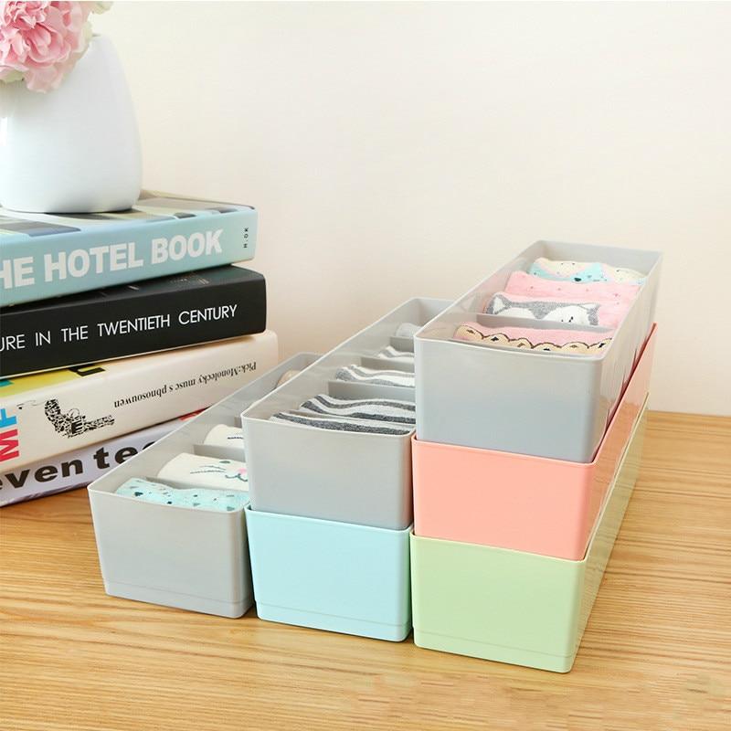 Plastic Desktop Organizer Socks Storage Case Bra Ties storage Box Portable make up Underwear Organizer Home Accessories in Storage Boxes Bins from Home Garden