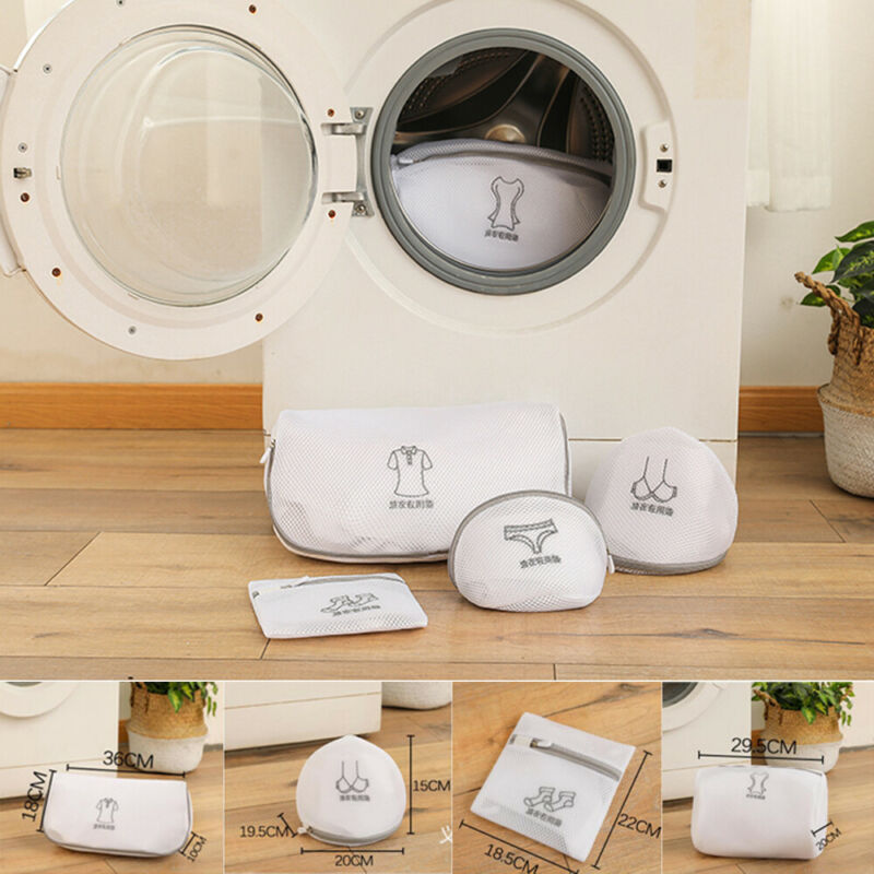 Home Embroidery Reusable Laundry Bag Mesh Clothes Underwear  Underpants Protect Bra Sock Wash Bag New