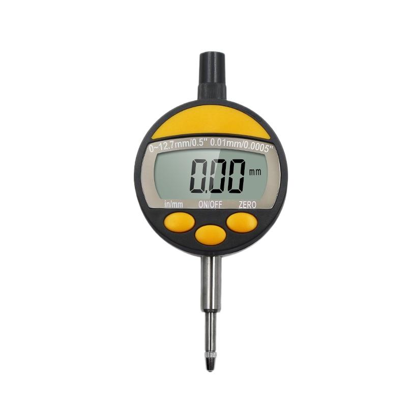 البلاستيك الأصفر الساخن مقاوم للماء مقاوم للماء والغبار 0 12.7 شاشة ديجيتال مؤشر الاتصال الإلكترونية أدوات قياس-في عدادات مترية متعددة من أدوات على
