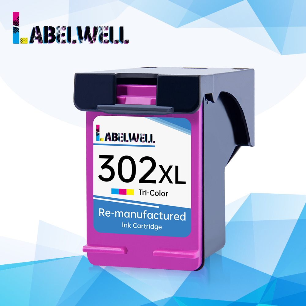 Labelwell 302XL Tri-color <font><b>Ink</b></font> Cartridge for hp302 <font><b>HP</b></font> 302 xl <font><b>Deskjet</b></font> <font><b>2130</b></font> 2135 1110 3630 3632 Officejet 3830 3834 4650 <font><b>Printer</b></font> image