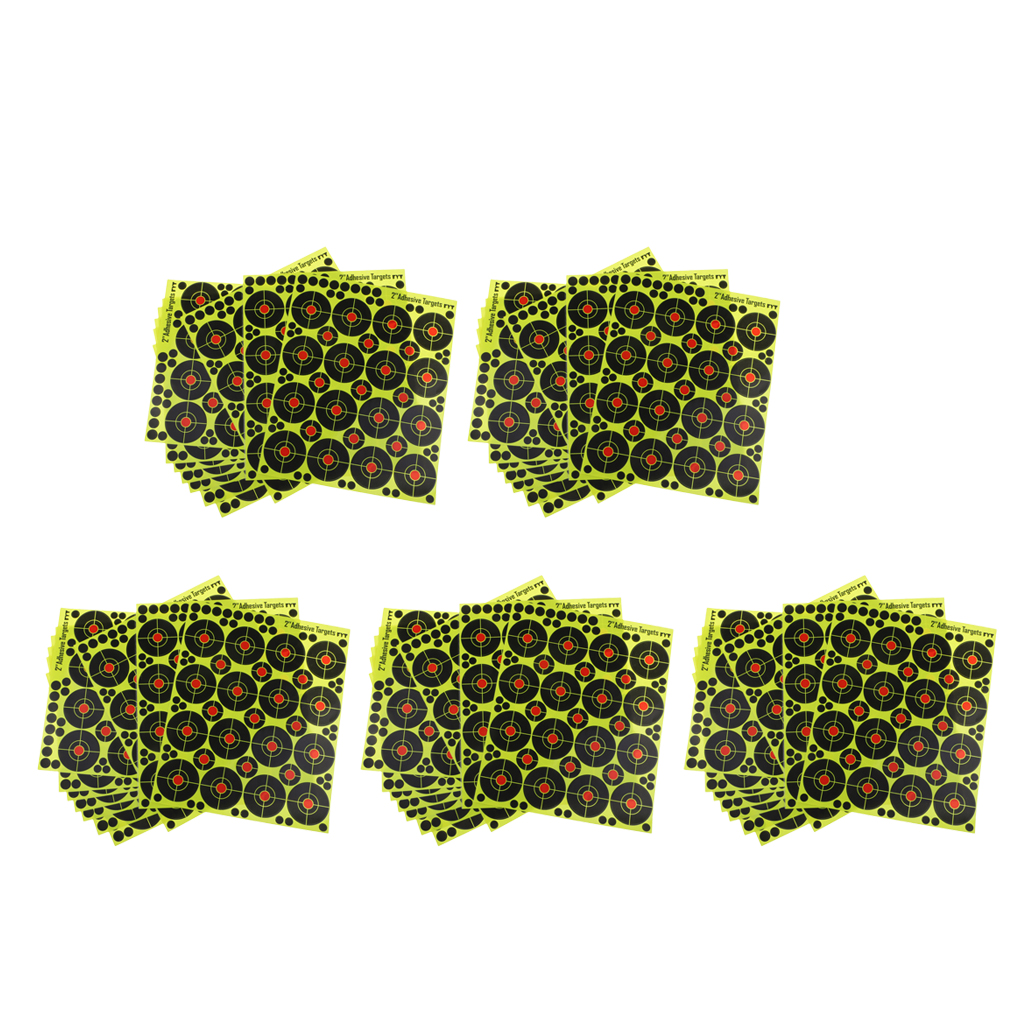 800pcs Hunting Targets High- Visibility Yellow Silhouette Paper Sheets For Archery Training Practice