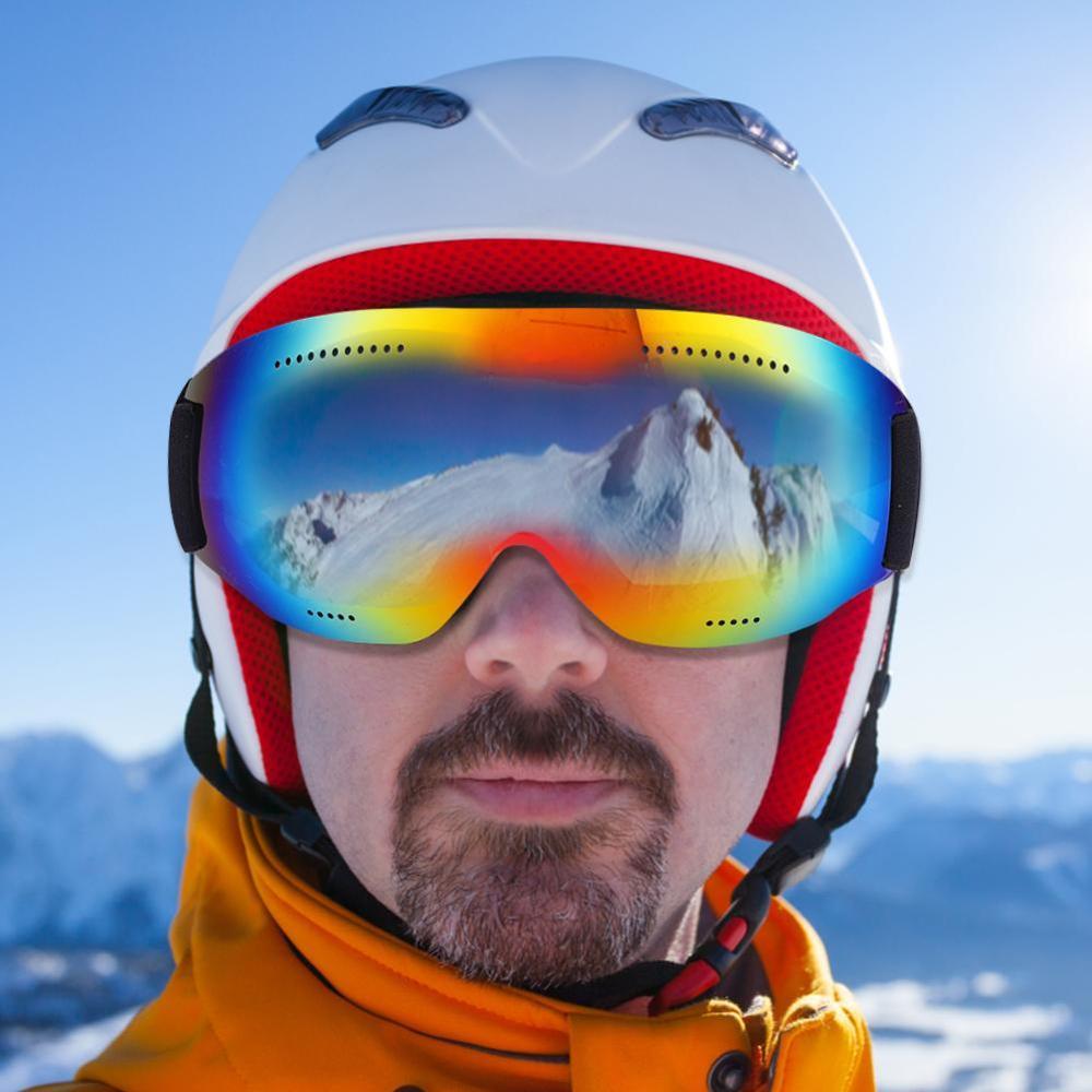 Ski Glasses Large Spherical Coca Myopia HD Colorful Coating Anti-ultraviolet Explosion-proof Anti-shock Snow Goggles