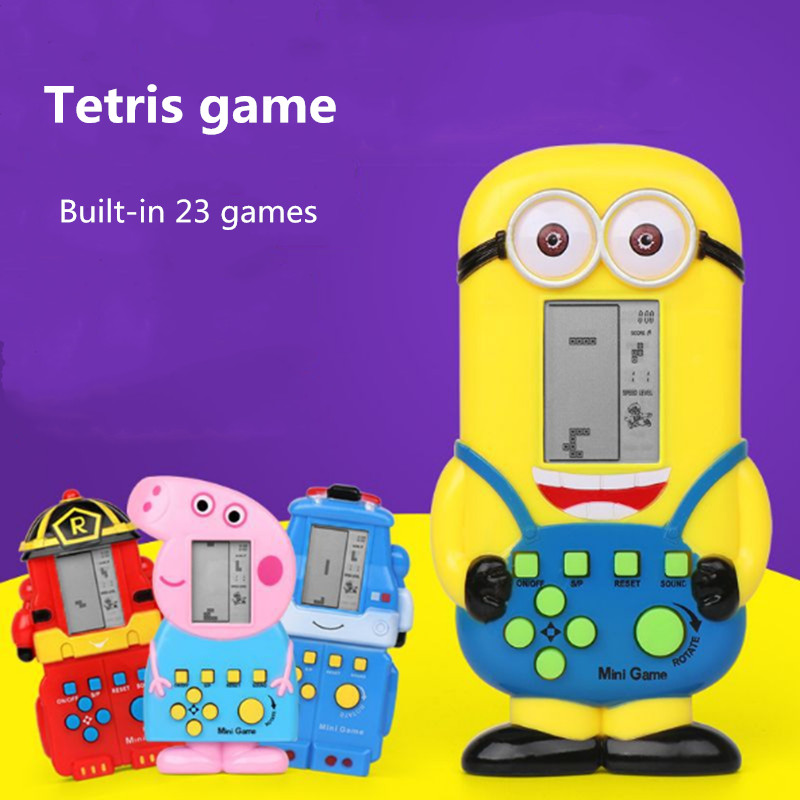 Built-in 23 Games Tetris Game Machine Mini Game Handheld Game Console Early Childhood puzzle Game Toy Page Game Machine