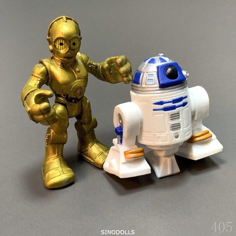 BIXE 2PCS Star Wars R2D2 & C3PO Action Figure 2.5