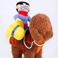 Собака ковбой, наездник одежда со шляпой милый костюмчик для хеллоуина и Рождества праздника вечерние украшения с щенками, косплей костюм