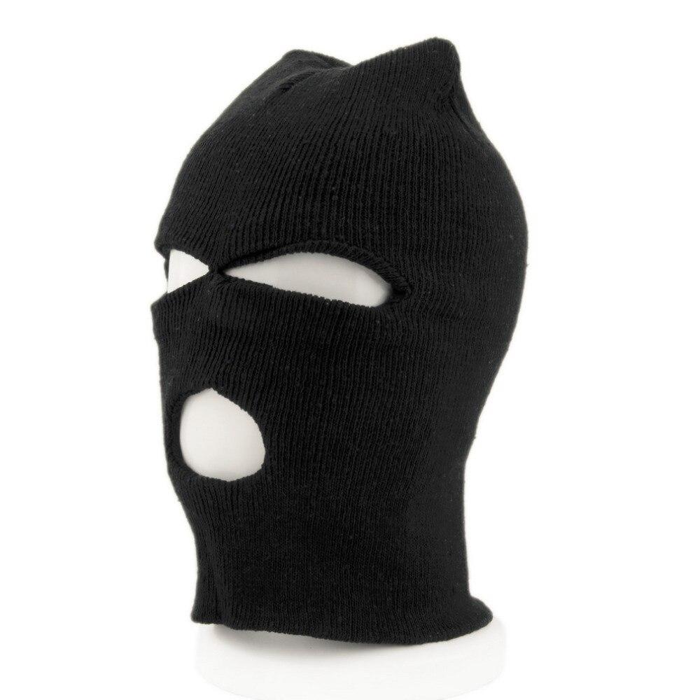 Face Mask Bike Full Face Cover Ski Mask Three 3 Hole Balaclava Knit Hat Winter Stretch Snow Mask Beanie Bike Hat Cap New