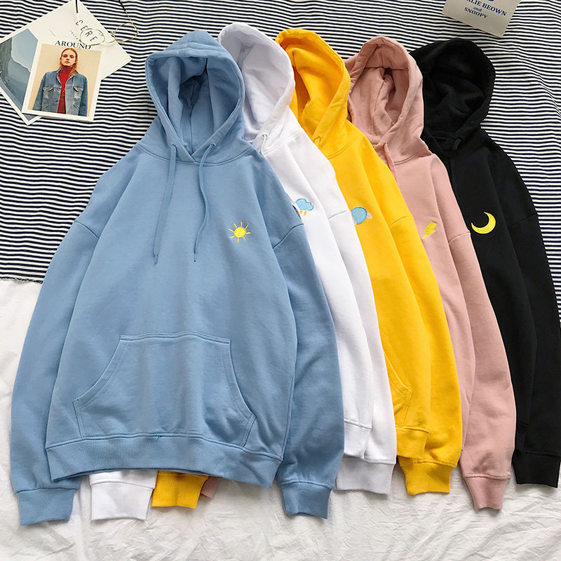 Mens Fashion Brand Harajuku Hoodies Autumn Winter Long Sleeve Solid Color Hoodied Tops Men Casual Embroidery Cotton Sweatshirts