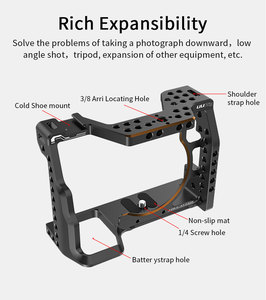 Image 3 - UURig C A73 Camera Cage for Sony A7III Standard Arca Style Quick Release Plate with Top Handle Grip for Sony a7iii A7R3 A7M3
