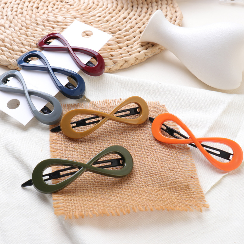 Korean New Hair Accessories Hairpin Candy Color Simple Word Clip Bow Card Acrylic Hair Clip G1102