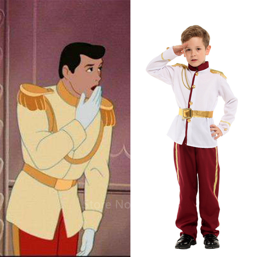 Boys Prince Charming Cosplay Costume Kids King British Officer Warrior Carnival Party Clothing Gentleman Performance Wear Gift