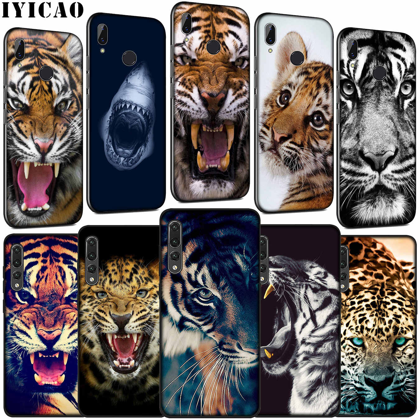 IYICAO tiger leopard Shark Bleiben hungrig Weiche Silikon Fall für Huawei P30 P20 Pro P10 P9 Lite Mini 2017 2016 P Smart Z Plus 2019