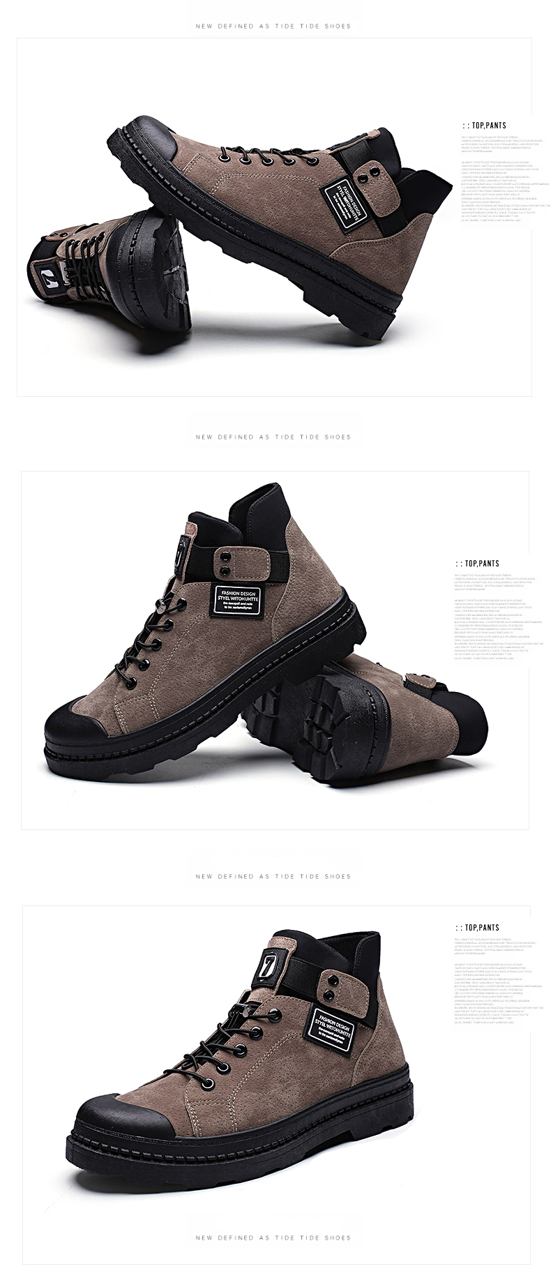 2020 Fashion Winter Men's Boots PULeather Male Waterproof Shoes Chaussure Mans Casual Shoes For Men Boots Footwear Male Sneakers