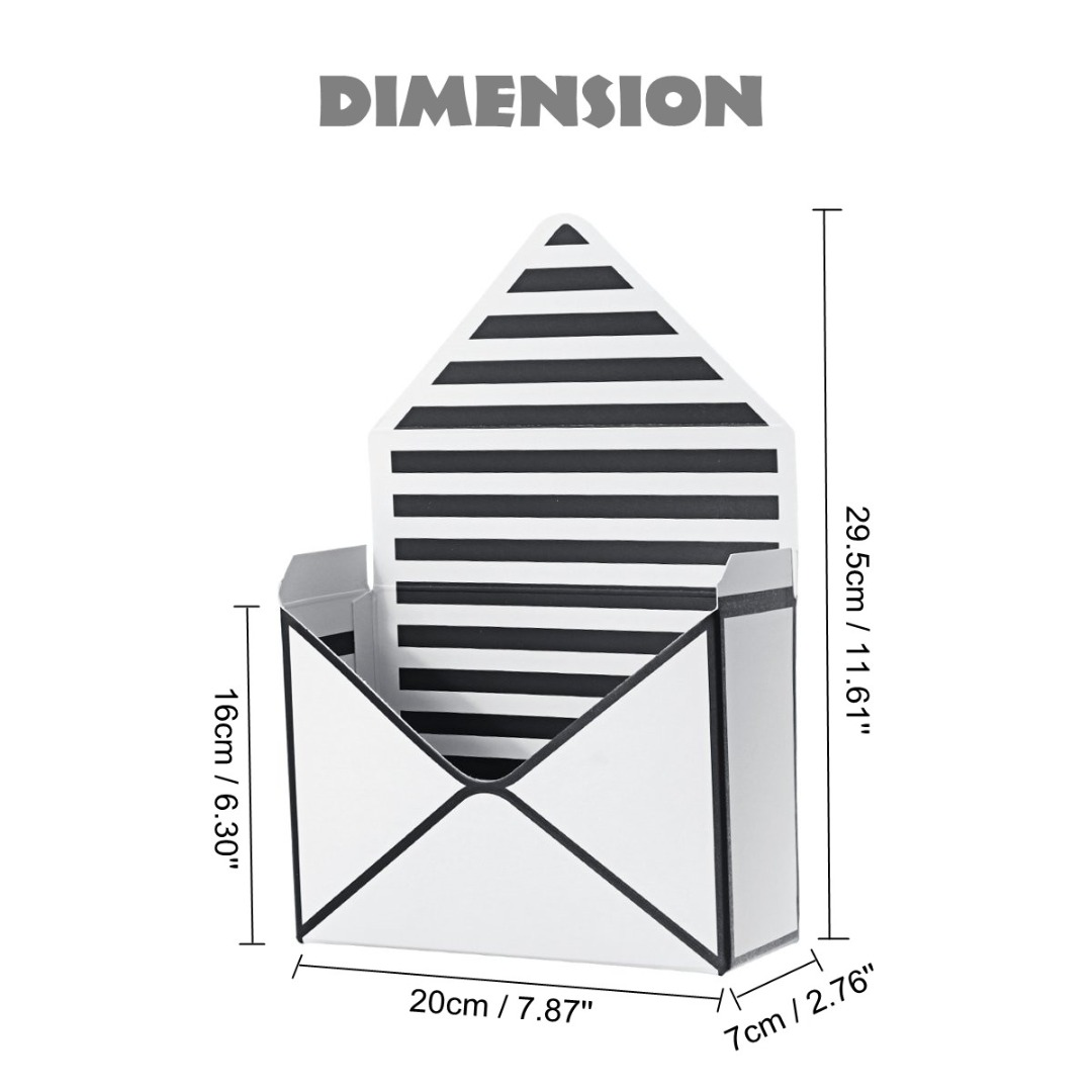 Seven 20x7x29 Envelope Folding 5cm Different Paper Party Wedding Wrapping Types Box 12pcs Floral Gift Flower
