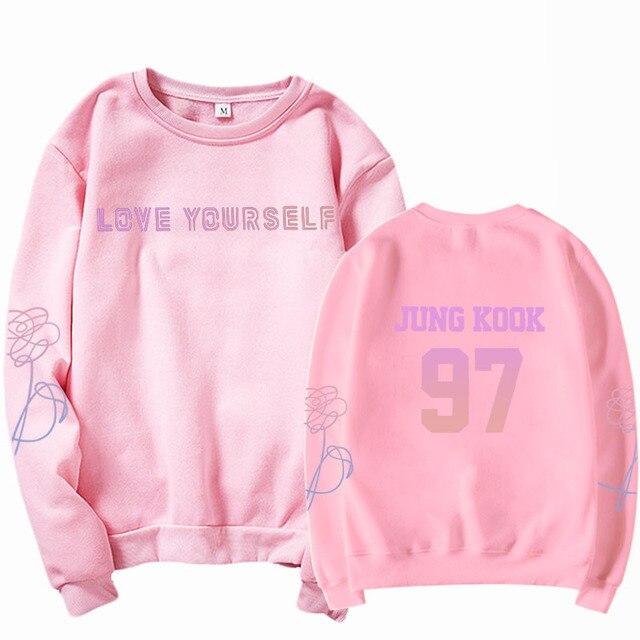 jungkook Unisex hoody kpop suga93 hoodies love KPOP weatshirt love yourself KPOP hoody sweatshirt  harajuku hoodies 4