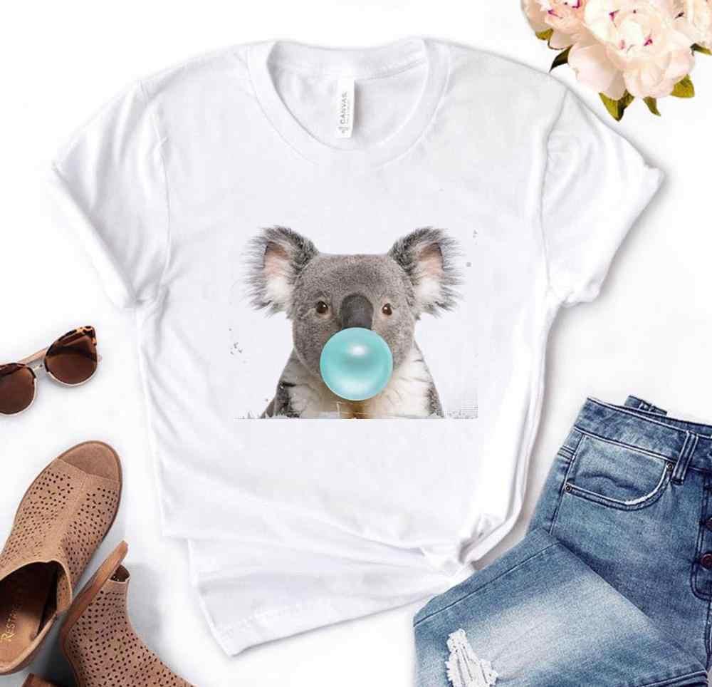 Koala Kauwgom Print Vrouwen Tshirt Katoen Casual Grappige T-shirt Gift Voor Lady Yong Meisje Top Tee PM-134
